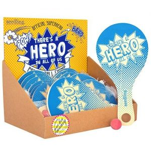 Official Superhero Paddle Ball (Set 24)